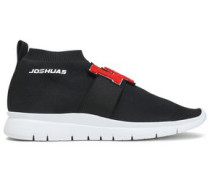 Stretch-knit High-top Sneakers Black