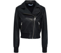 Arkos Leather Biker Jacket Black