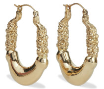 Woman Moorish Door Knocker Gold-tone Earrings Gold