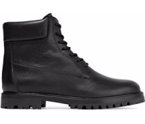 Farley textured-leather boots