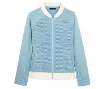 Honeycomb-mesh and jersey bomber jacket