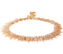 Gold-tone Crystal Necklace Rose Gold Size --