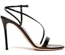 Carlyle Patent-leather Sandals Black