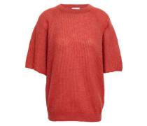 Ribbed-knit Top Papaya