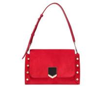 Lockett Studded Suede Shoulder Bag Red Size --