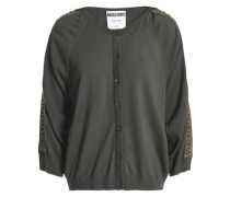 Wool Cardigan Army Green