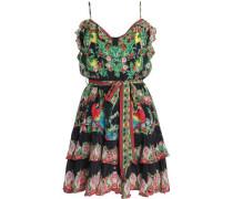 The Sweet Escape ruffled printed jacquard mini dress