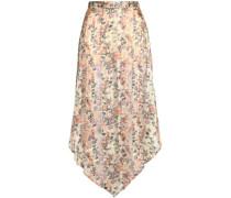 Metallic floral-print silk-chiffon maxi skirt