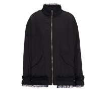 Lace-trimmed Shell Jacket Black