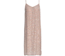Sequined Woven Dress Sand