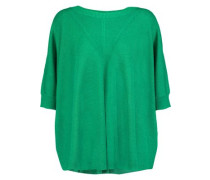 Alycia Ribbed Wool And Silk-blend Sweater Green  /S