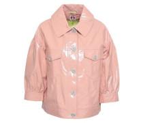 Crystal-embellished Vinyl Jacket Blush