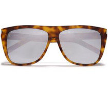 Square-frame Tortoiseshell-print Acetate Sunglasses Light Brown Size --