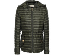 Quilted Shell Hooded Jacket Army Green
