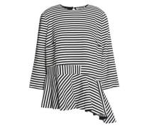Conix asymmetric striped crepe top