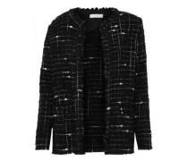 Frayed bouclé-tweed blazer