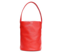 Leather Bucket Bag Red Size --