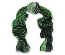 Printed silk-chiffon scarf
