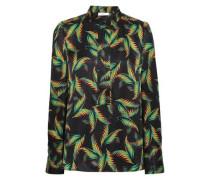 Gosford printed silk-jacquard shirt