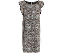 Embellished embroidered gauze mini dress