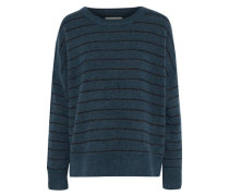 Andoles Striped Stretch-knit Sweater Storm Blue