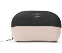 Two-tone Textured-leather Cosmetics Case Blush Size --