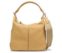 Leather Shoulder Bag Beige Size --
