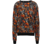 Printed Cotton Sweater Black