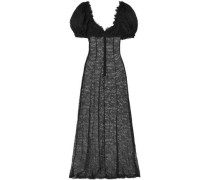 Doda Chantilly Lace Gown Black