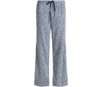 Printed voile pajama pants