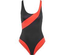 Woman Rachel Open-back Printed Swimsuit Black