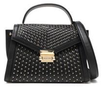 Whitney Studded Leather Shoulder Bag Black Size --