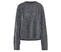 Woman Cable-knit Sweater Dark Gray
