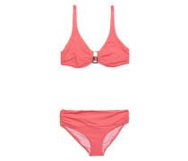 Ruched embellished bikini
