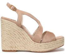 Suede wedge platform sandals