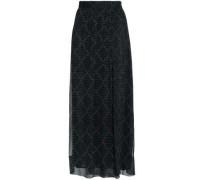 Printed silk-georgette maxi wrap skirt