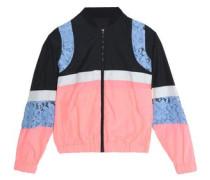 Giupure lace-paneled color-block shell windbreaker jacket