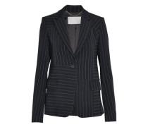 Pinstriped twill blazer