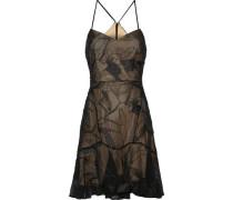 Soutache Embroidered Chiffon Mini Dress Black Size 14