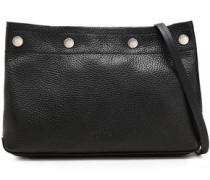 Studded Pebbled-leather Shoulder Bag Black Size --