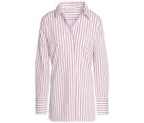 Striped cotton-blend oxford shirt