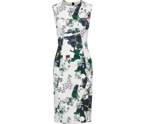 Maura Floral-print Neoprene Dress White
