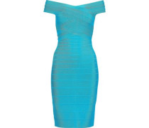 Off-the-shoulder Bandage Dress Turquoise