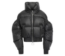 Poodle Quilted Shell Down Jacket Black