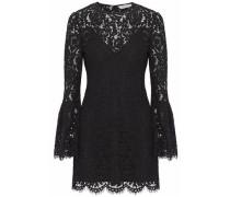 Scalloped corded lace mini dress