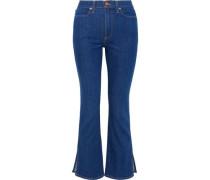 High-rise Bootcut Jeans Mid Denim  4