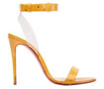 Jonatina 100 Pvc-trimmed Patent-leather Sandals Pastel Orange
