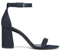 Lillian Metallic Denim Sandals Dark Denim