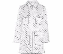 Polka-dot satin jacket