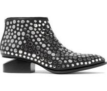 Kori Studded Leather Ankle Boots Black